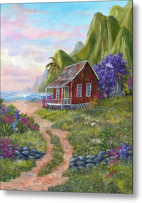 Landscape Metal Print featuring the painting Hawaii by Marveta Foutch