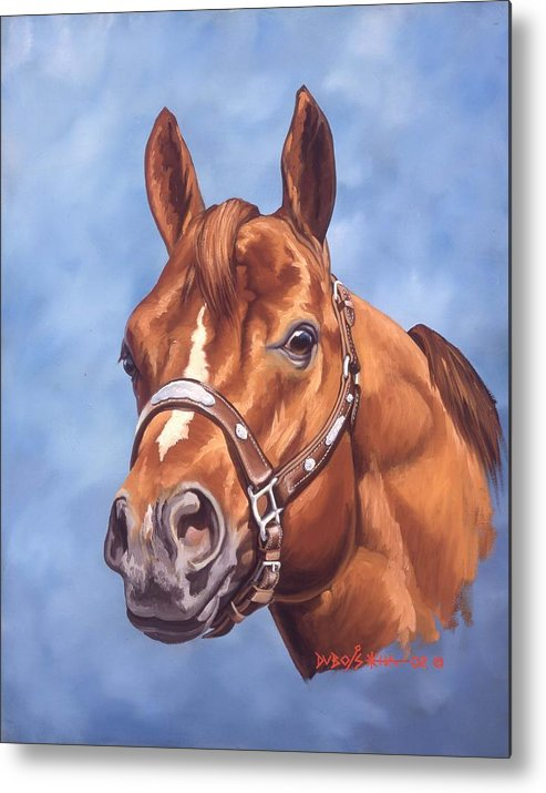 Quarter Horse Metal Print featuring the painting Impressive by Howard Dubois