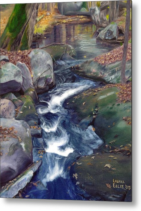 Landscape Metal Print featuring the painting Mountain Brook IV by Laurel Ellis