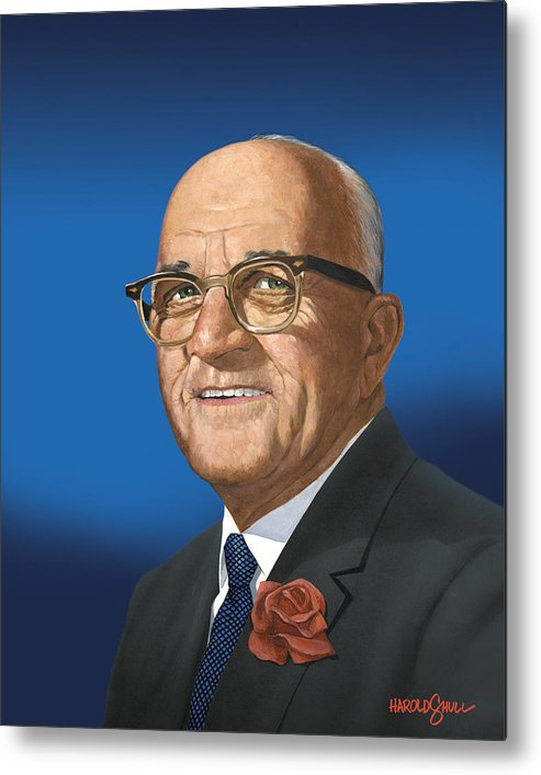 Harold Shull Metal Print featuring the painting My father Jack Shull by Harold Shull