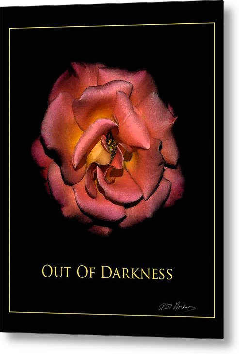 Metal Print featuring the photograph Out Of Darkness by Richard Gordon
