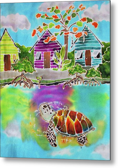 Bahamas Art Metal Print featuring the painting Peepin Tom by Tiff