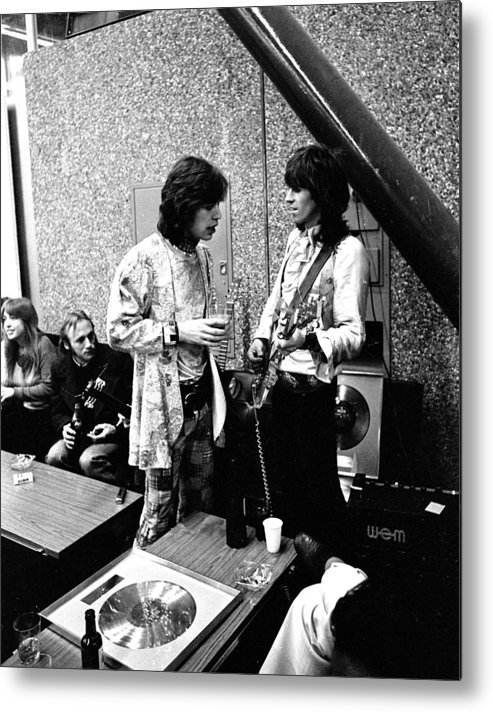 Rolling Stones Metal Print featuring the photograph Rolling Stones 1970 Mick and Keith by Chris Walter