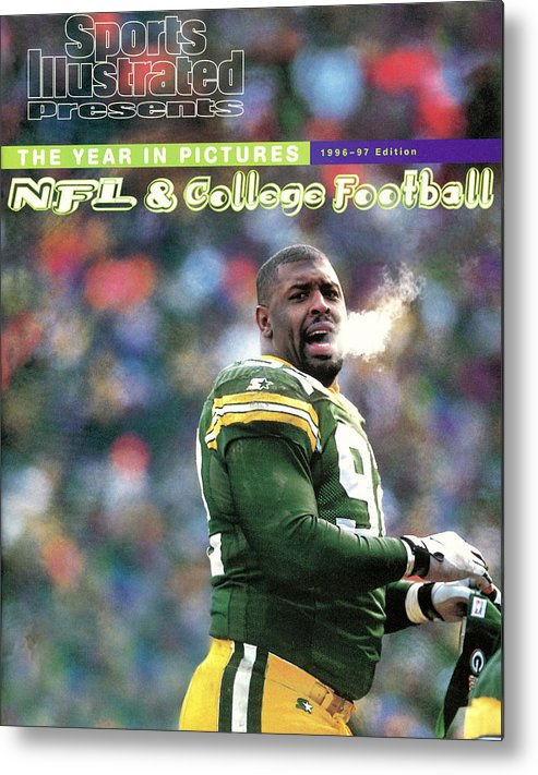Green Bay Metal Print featuring the photograph Green Bay Packers Reggie White, 1997 Nfc Championship Sports Illustrated Cover by Sports Illustrated