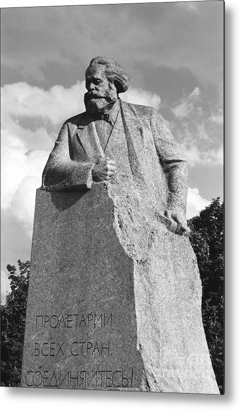 Karl Marx Metal Print featuring the photograph Marx by Susan Chandler