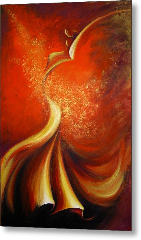 Figure Study Metal Print featuring the painting Mystery Dance by Dina Dargo