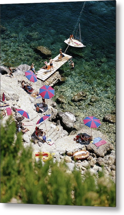 People Metal Print featuring the photograph Porto Ercole by Slim Aarons
