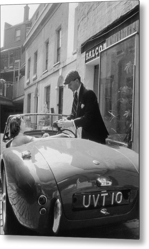 People Metal Print featuring the photograph Ac Sports Car by Slim Aarons