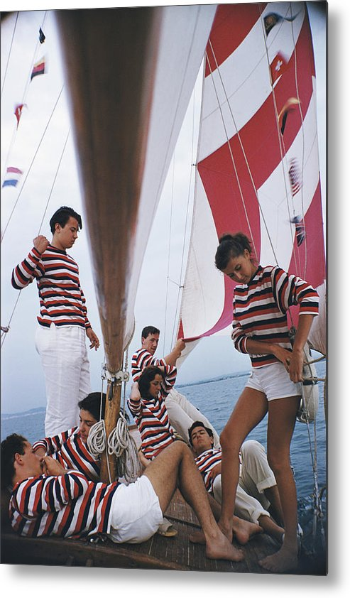 Young Men Metal Print featuring the photograph Adriatic Sailors by Slim Aarons