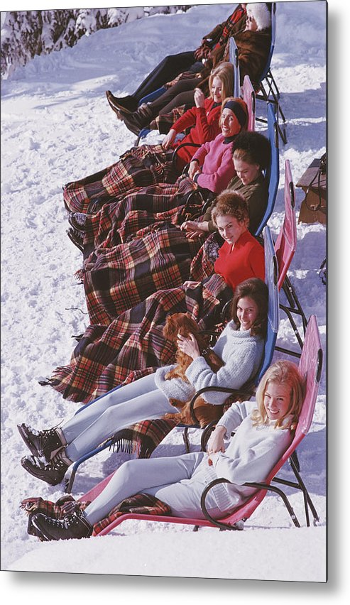 Gstaad Metal Print featuring the photograph Apres Ski by Slim Aarons
