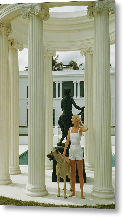 Pets Metal Print featuring the photograph C. Z. Guest by Slim Aarons