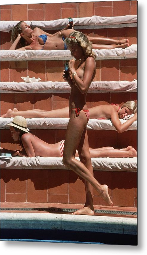 1980-1989 Metal Print featuring the photograph Catherine Wilke by Slim Aarons