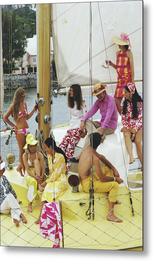People Metal Print featuring the photograph Colourful Crew by Slim Aarons