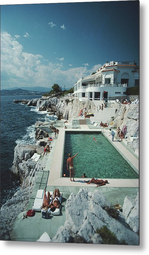 Recreational Pursuit Metal Print featuring the photograph Eden-roc Pool by Slim Aarons