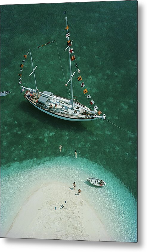 People Metal Print featuring the photograph Exuma Holiday by Slim Aarons