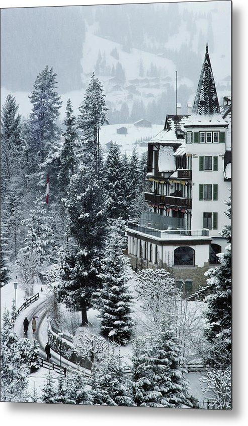 Gstaad Metal Print featuring the photograph Grand Hotel Alpina by Slim Aarons
