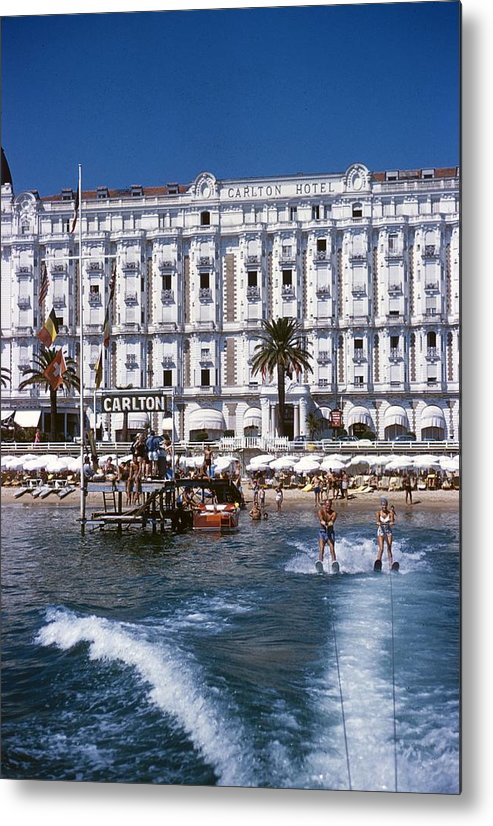 Skiing Metal Print featuring the photograph Hotel Sports by Slim Aarons