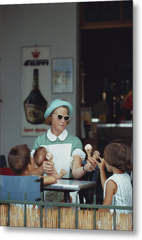 Child Metal Print featuring the photograph Ice Cream Time by Slim Aarons