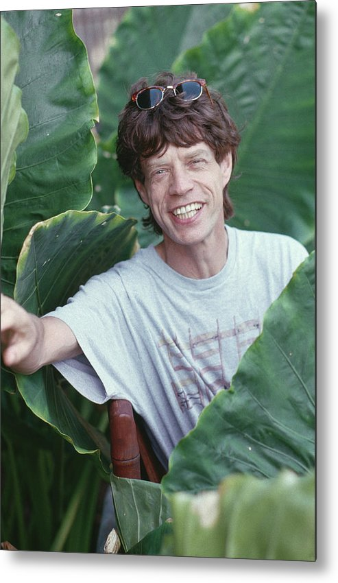 Mick Jagger Metal Print featuring the photograph Jagger On Holiday by Slim Aarons