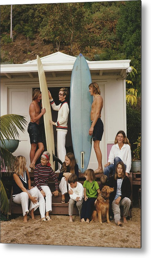 Pets Metal Print featuring the photograph Laguna Beach by Slim Aarons