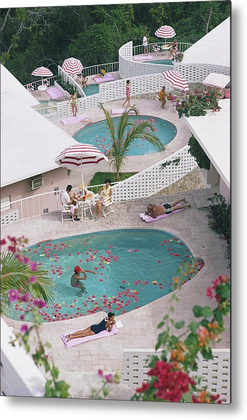 Apartment Metal Print featuring the photograph Las Brisas Hotel by Slim Aarons