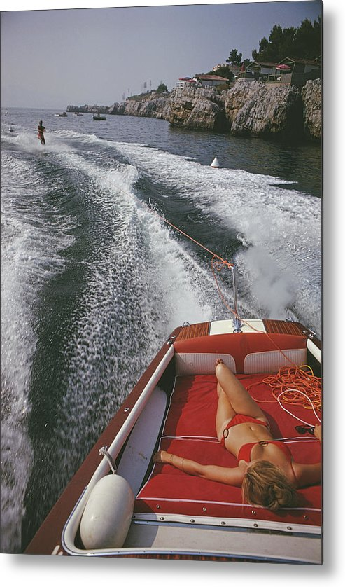 Leisure In Antibes Metal Print