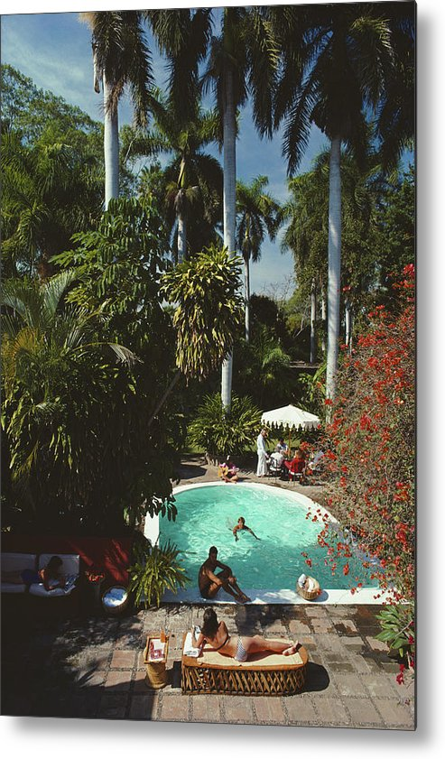 1980-1989 Metal Print featuring the photograph Mazatlan Mansion by Slim Aarons