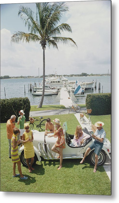 People Metal Print featuring the photograph Palm Beach Society by Slim Aarons