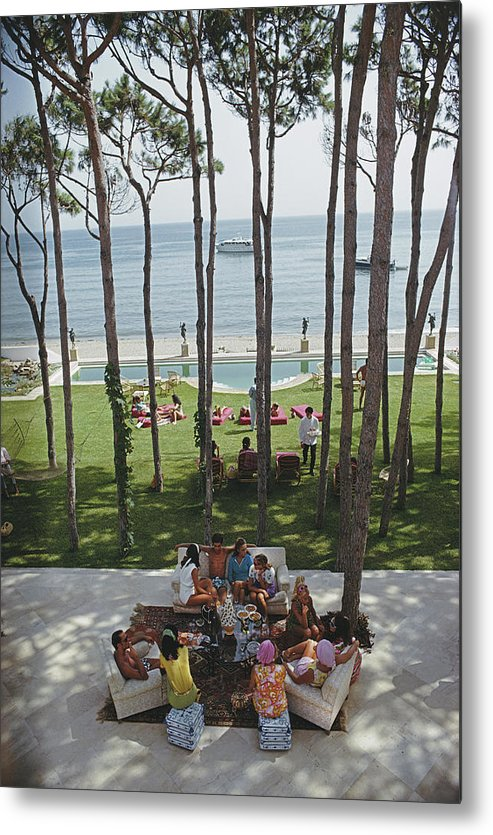People Metal Print featuring the photograph Party In Marbella by Slim Aarons