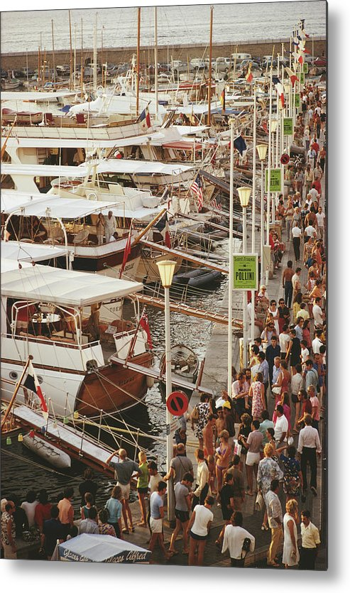 Water's Edge Metal Print featuring the photograph Saint-tropez Seafront by Slim Aarons