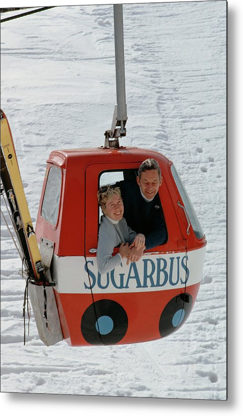 People Metal Print featuring the photograph Snow Lift by Slim Aarons
