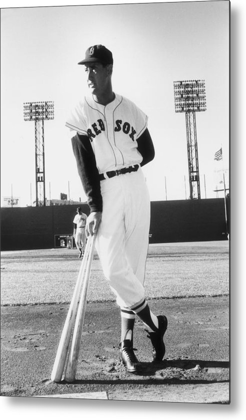 People Metal Print featuring the photograph Ted Williams by Slim Aarons