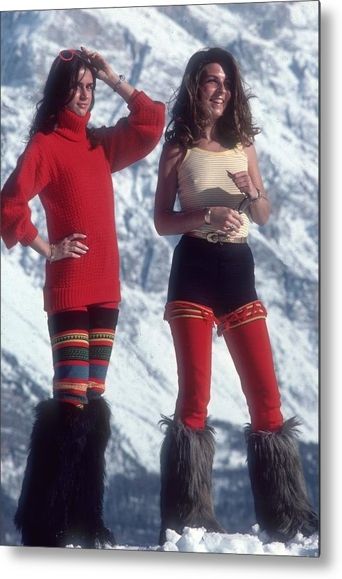 People Metal Print featuring the photograph Winter Wear by Slim Aarons