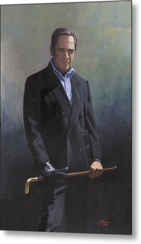 #formal Portrait Of Harold Shull Metal Print featuring the painting Harold Shull Circa 2004 by Harold Shull