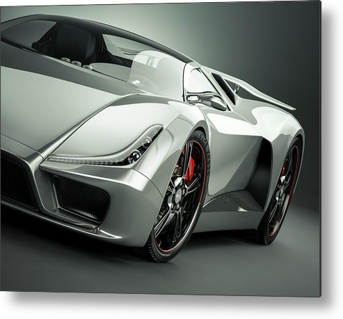 Aerodynamic Metal Print featuring the photograph Sports Car by Mevans