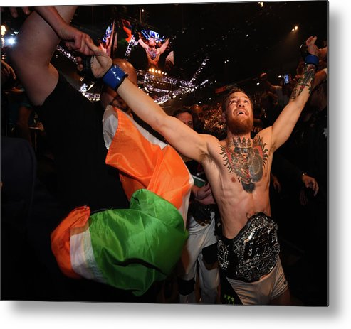 Event Metal Print featuring the photograph Ufc 189 Mendes V Mcgregor by Jeff Bottari/zuffa Llc