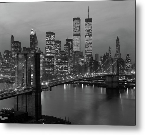 Photography Metal Print featuring the photograph 1980s New York City Lower Manhattan by Vintage Images