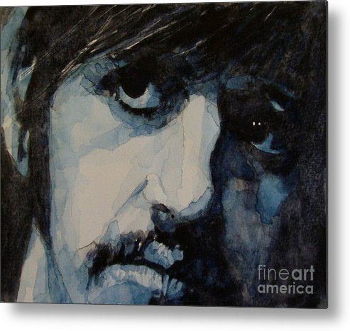 Ringo Starr  Metal Print featuring the painting Ringo by Paul Lovering