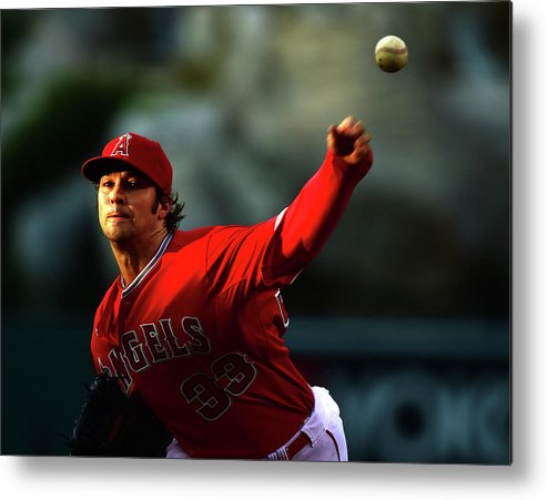 People Metal Print featuring the photograph Oakland Athletics V Los Angeles Angels by Harry How
