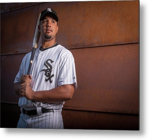 Media Day Metal Print featuring the photograph Chicago Whte Sox Photo Day by Rob Tringali