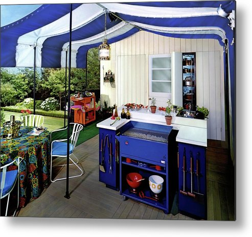 Architecture Metal Print featuring the photograph A Patio by Pedro E. Guerrero