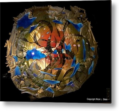 Abstract Heaven Metal Print featuring the painting Abstract Poverty Heaven by Rick Silas