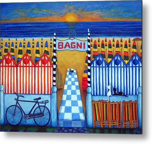 Italy Metal Print featuring the painting An Italian Summer's End by Lisa Lorenz