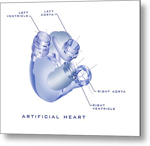 Sunrise Metal Print featuring the painting Artificial Heart by James Christopher Hill
