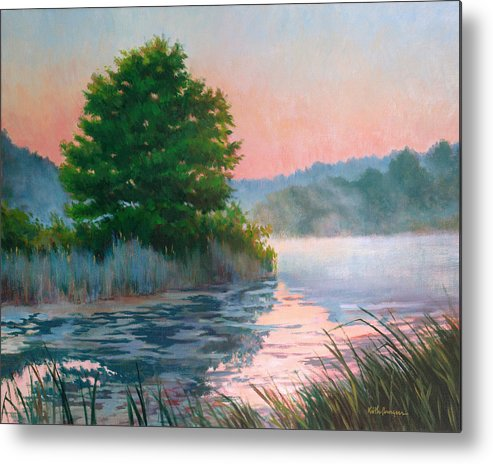 Impressionism Metal Print featuring the painting Break Of Day by Keith Burgess