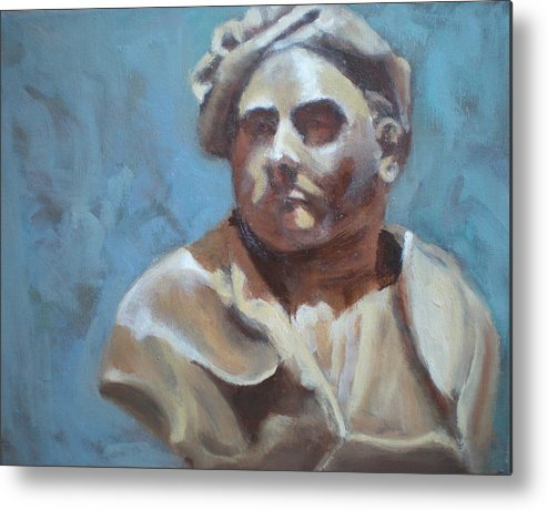 Portrait Of Bust Metal Print featuring the painting Bust by Bryan Alexander