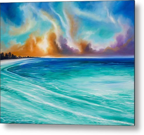 Sunrise Metal Print featuring the painting Cazumel by James Christopher Hill
