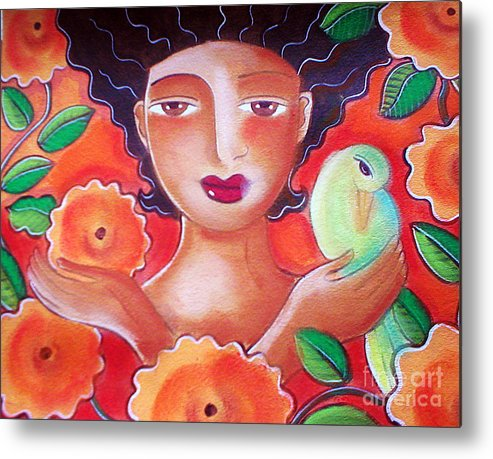 Tropical Metal Print featuring the mixed media Choose for Reasons by Elaine Jackson