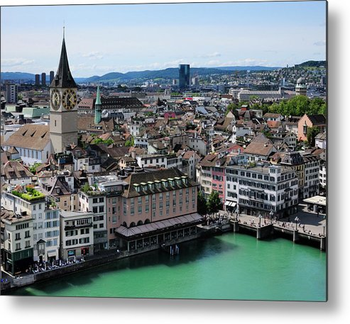 Tranquility Metal Print featuring the photograph Church Sankt Peter by Werner Büchel