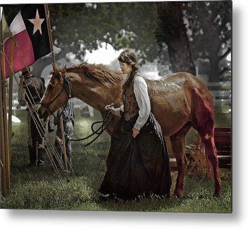 Horse Metal Print featuring the photograph Civil War Re-Enactment Camp by Jim Painter